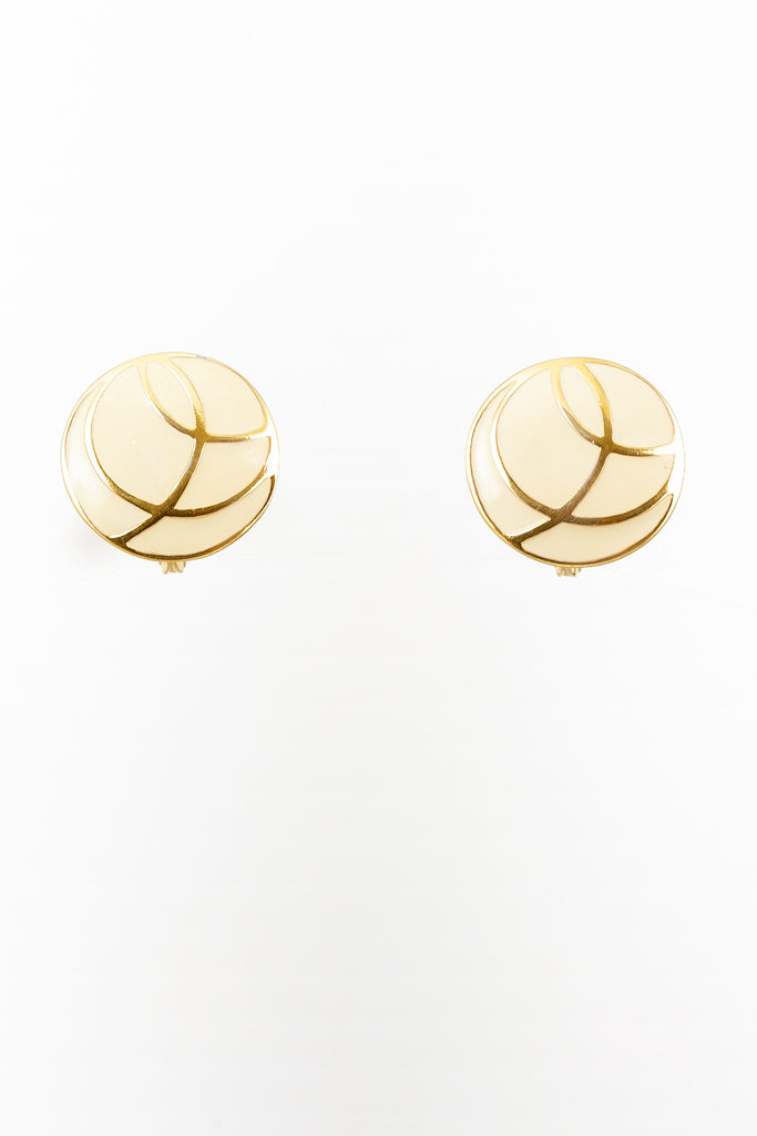 70's__Monet__Circle Swirl Studs