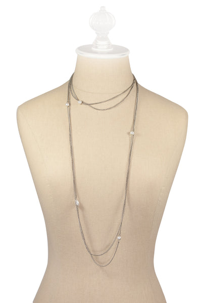 50's__Vintage__Multi Chain Pearl Necklace