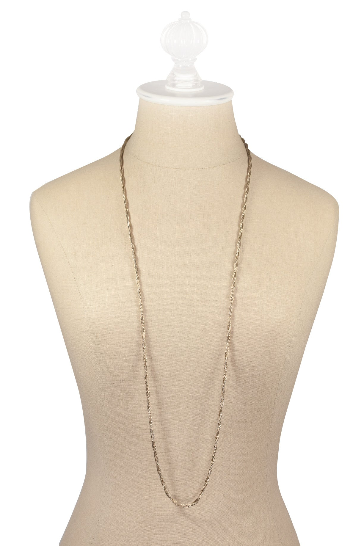 70's__Christian Dior__Twisted Mesh Necklace