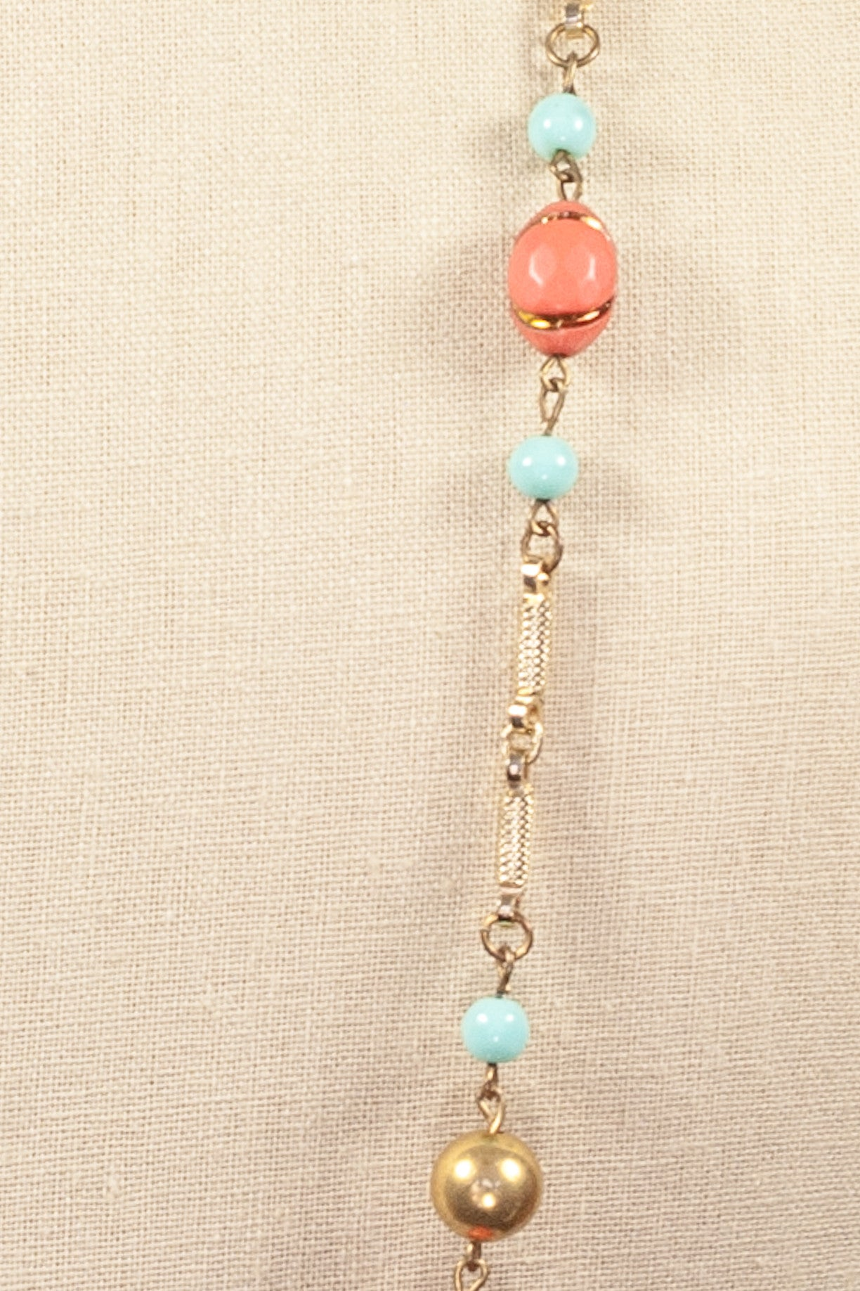 50's__Vintage__Long Charm Necklace