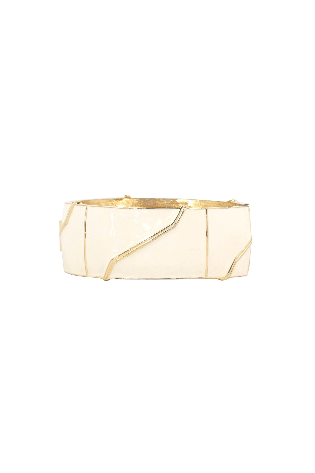 80's__Monet__Statement Cream Bangle Cuff