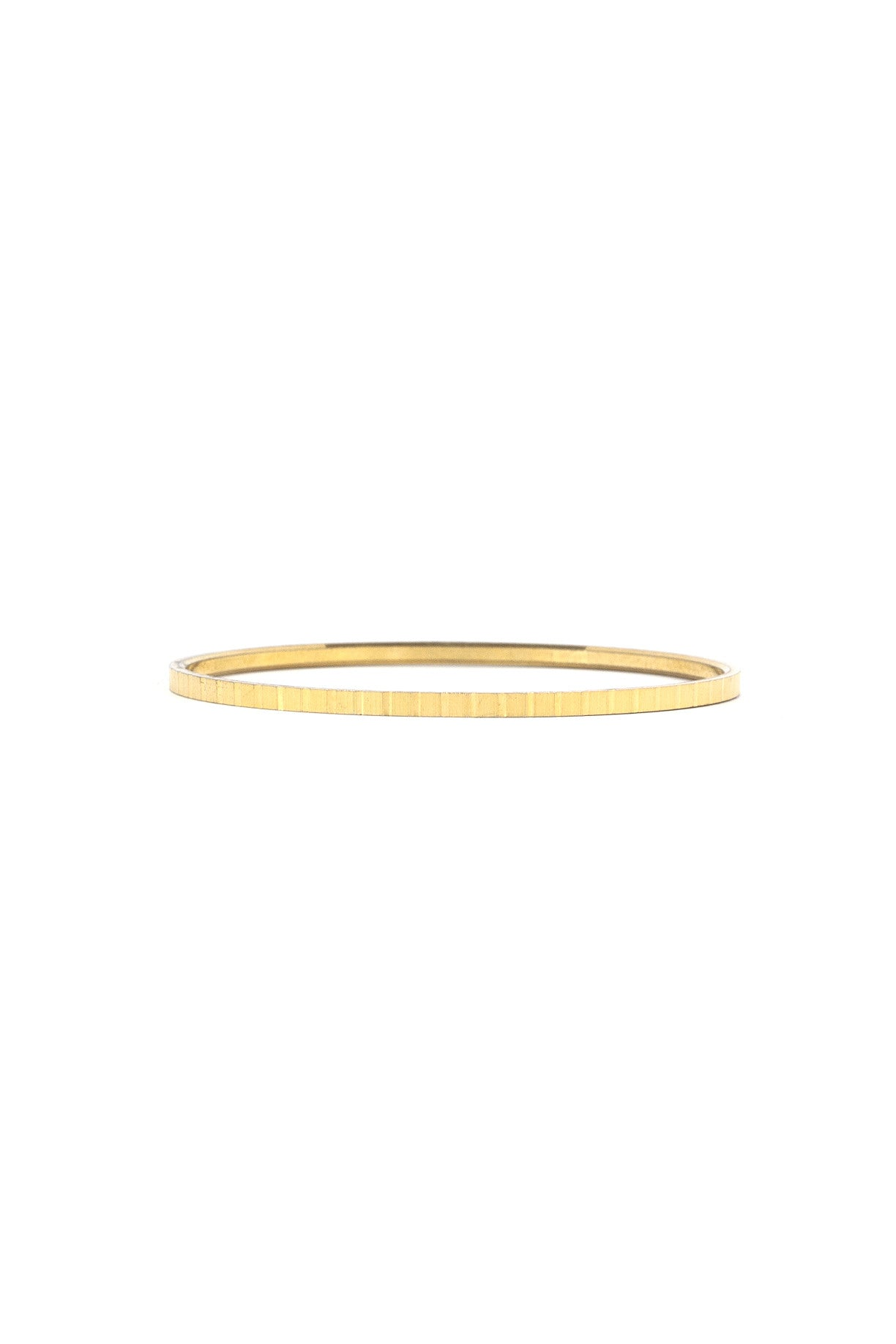 70's__Trifari__Super Slim Etched Bangle