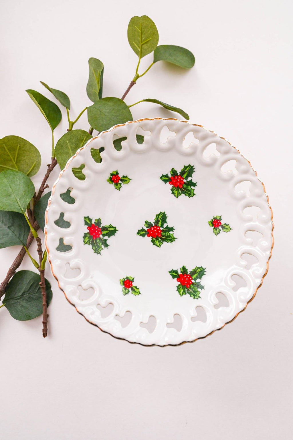 Holly Leaf Serving Tray