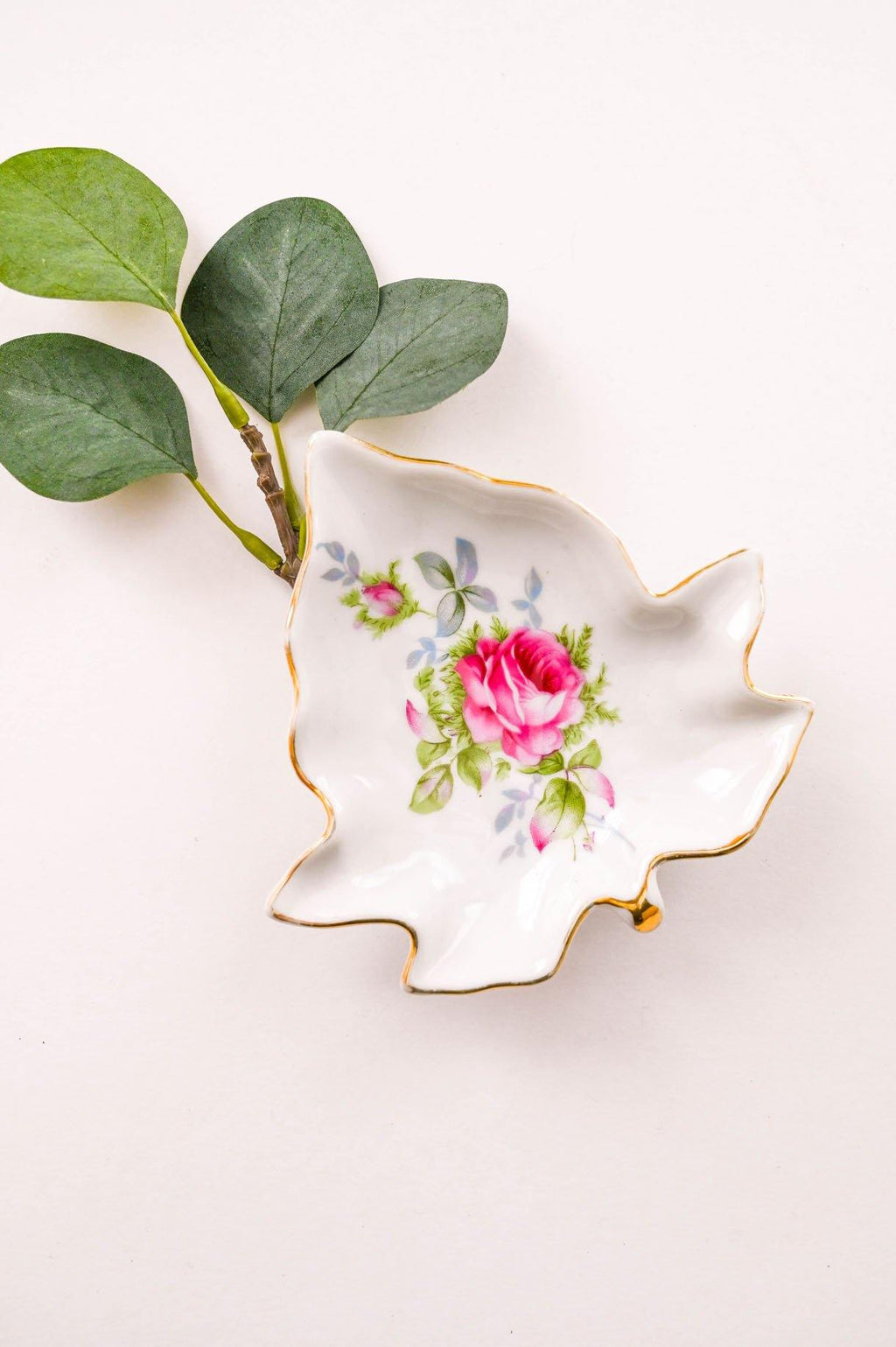 Medium Floral Leaf Trinket Dish