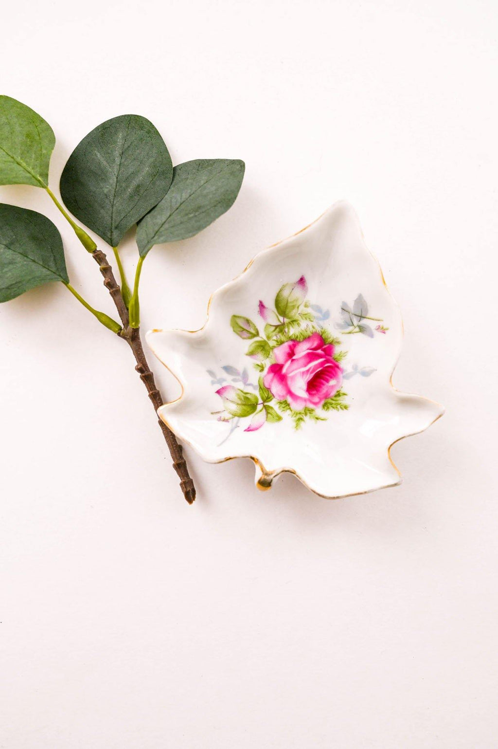 Small Floral Leaf Trinket Dish