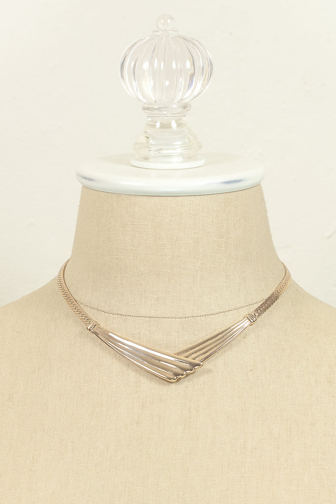 70's__Park Lane__Gold Bar Necklace