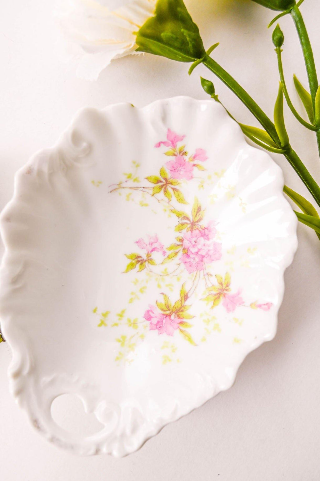 Floral Detailed Trinket Dish