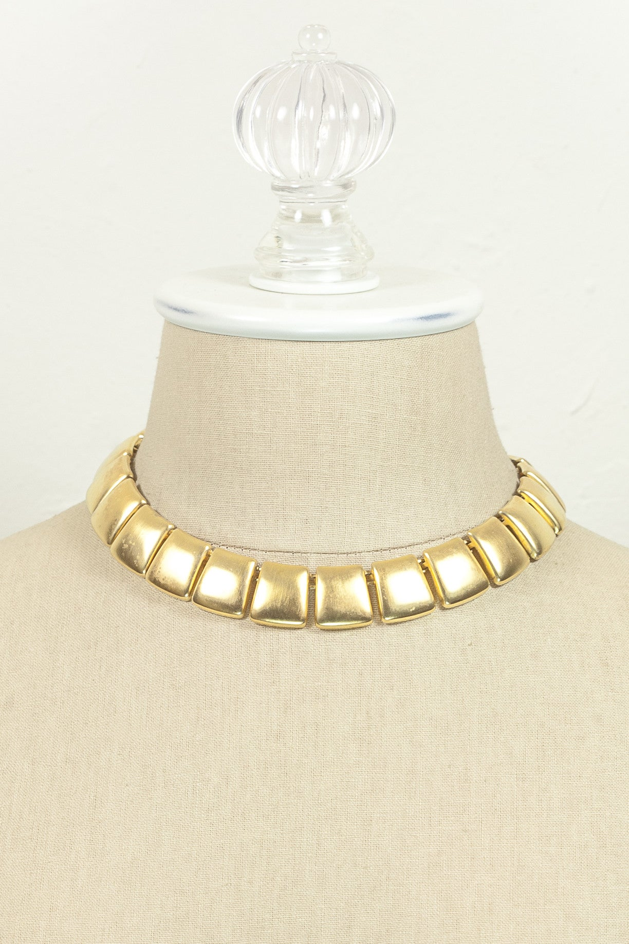 90's__Anne Klein__Square Link Necklace