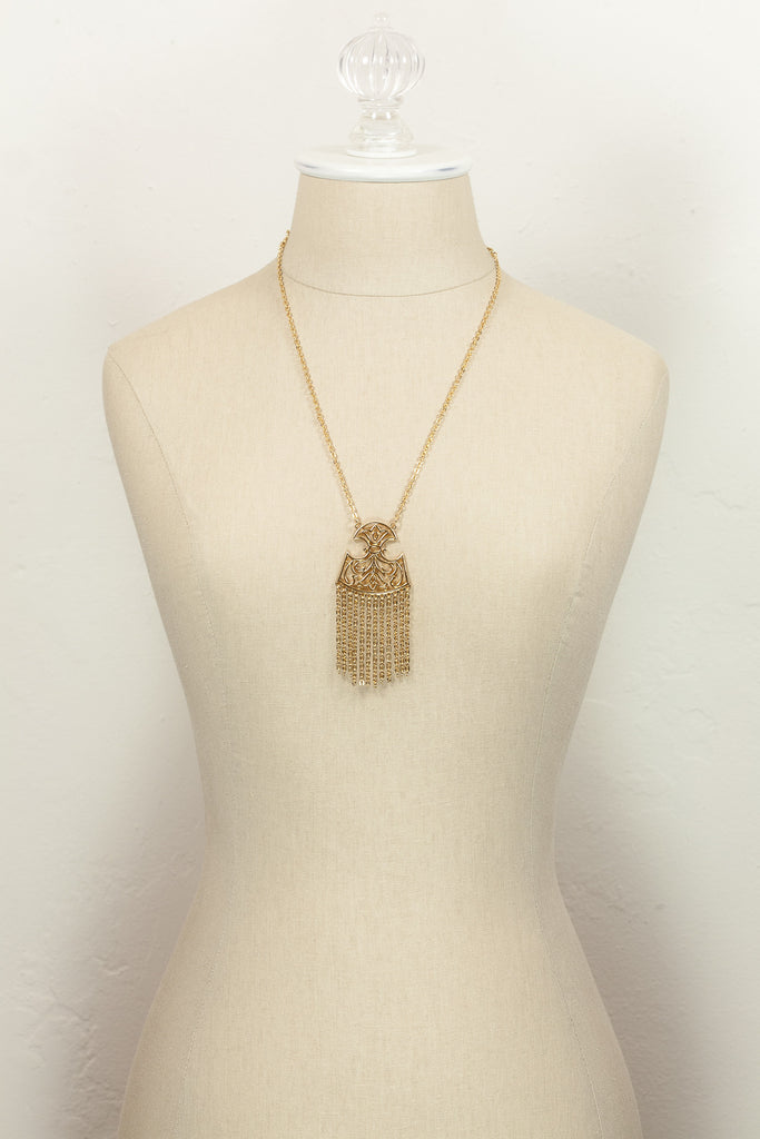 70's__Trifari__Tassel Pendant Necklace