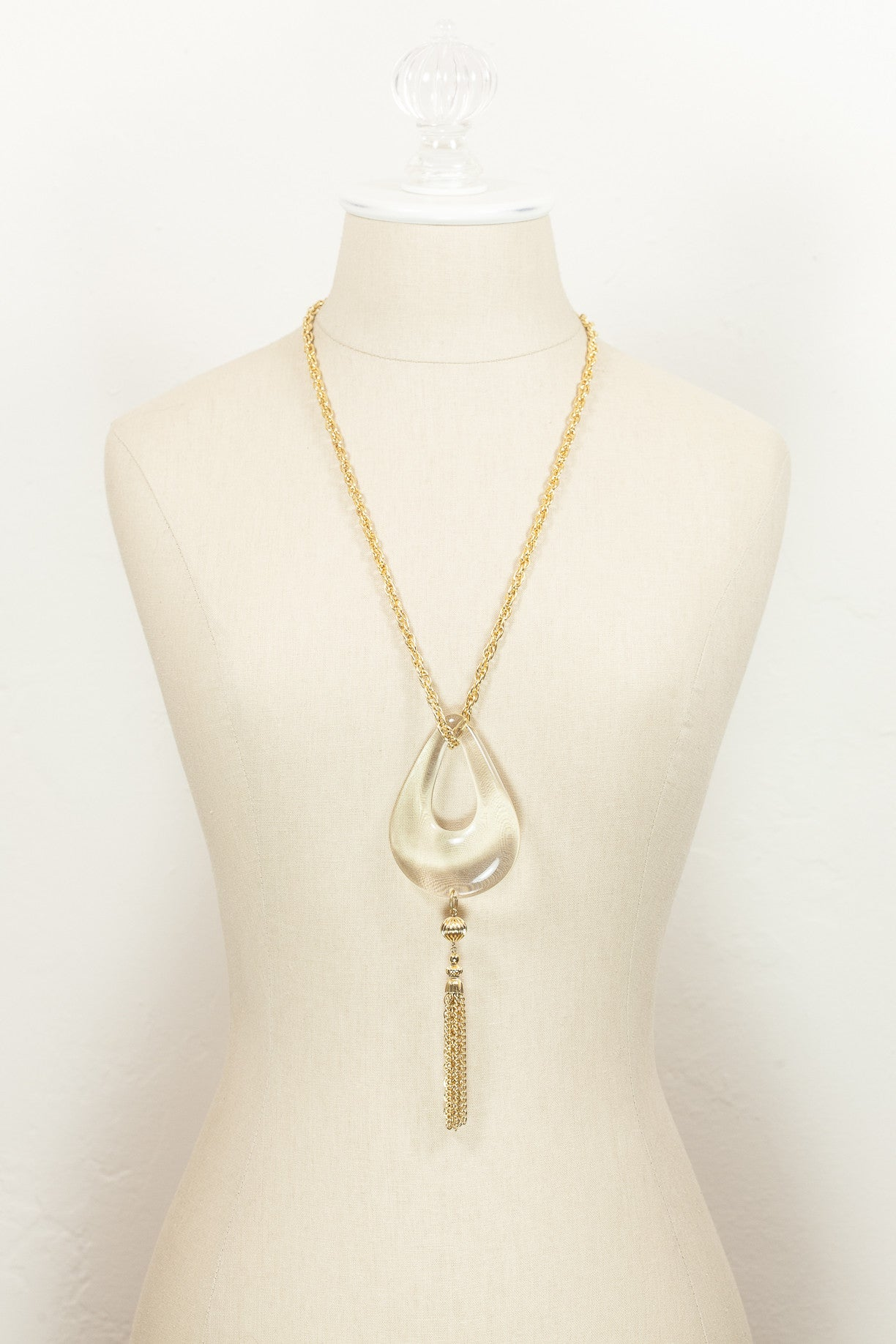 70's__Vintage__Lucite Tassel Necklace