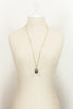 80's__Joan Rivers__Moon & Stars Egg Pendant Necklace