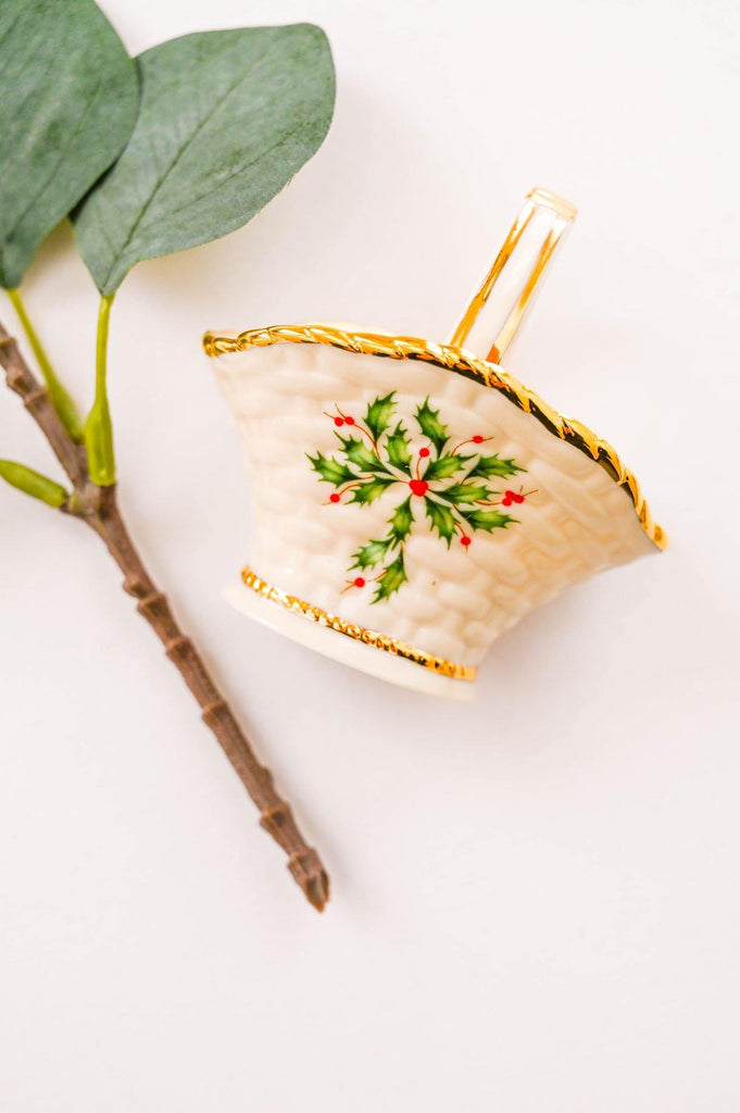 Holly Basket Ornament