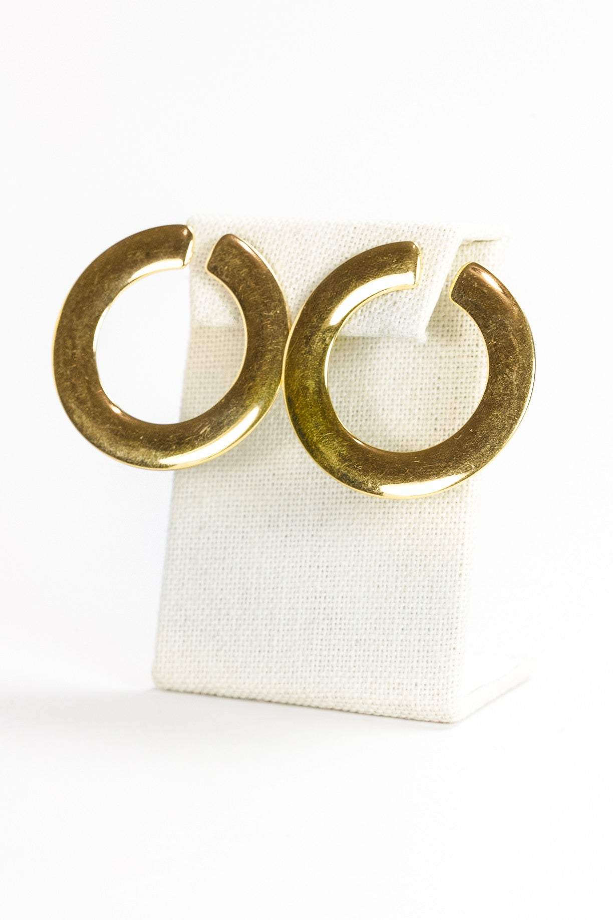 70's__Vintage__Bold C Hoop Earrings