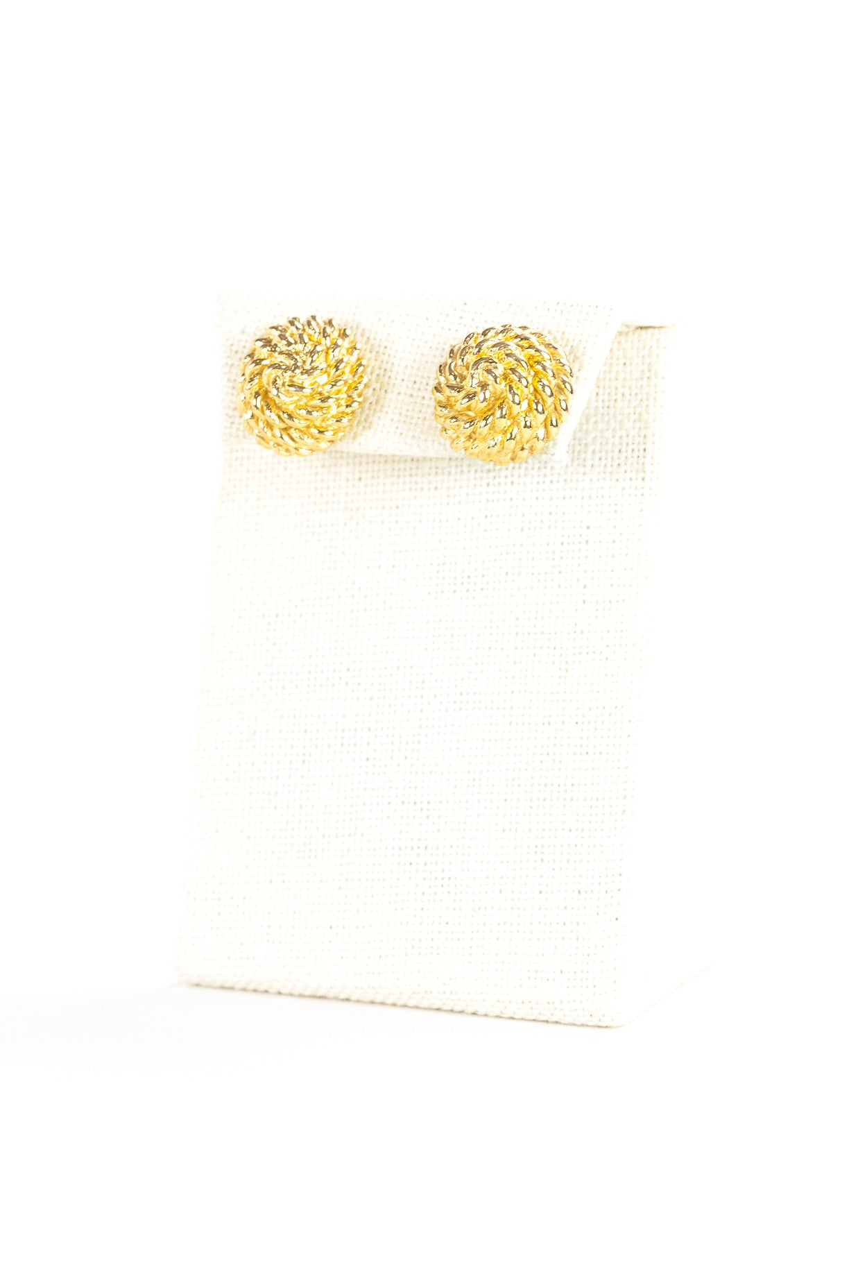 70's__Monet__Gold Rope Knot Earrings