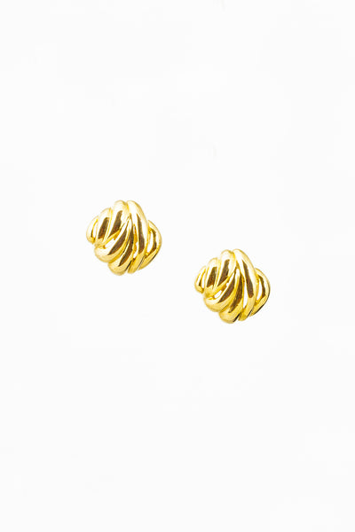 70's__Givenchy__Square Statement Clip-on Earrings