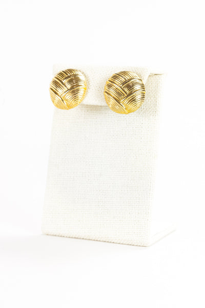 70's__Monet__Textured Gold Earrings