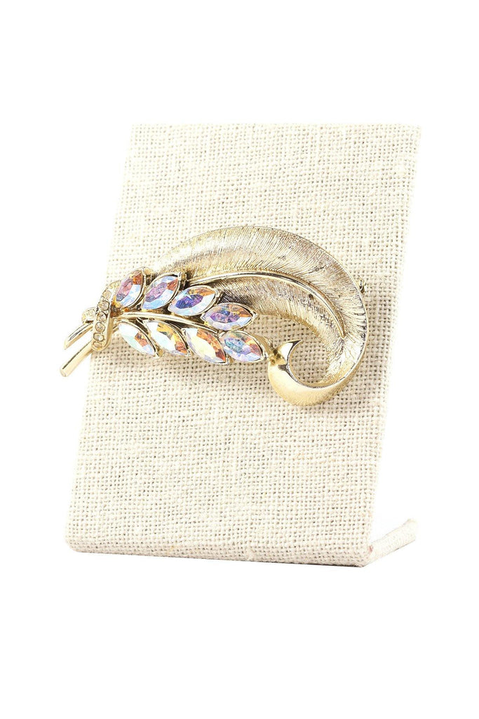 50's__Coro__Feather Brooch