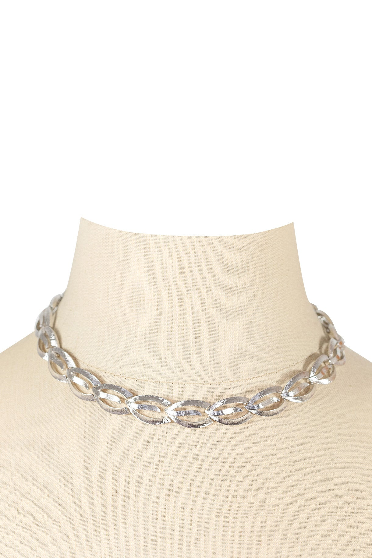 70's__Monet__Silver Statement Necklace