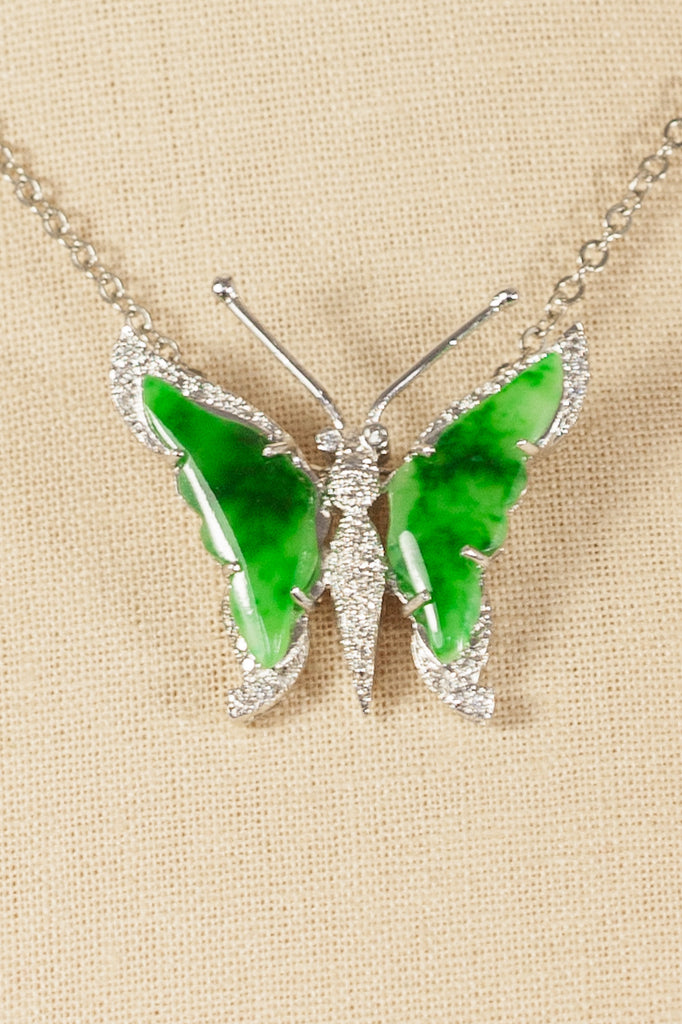 60's__Vintage__Butterfly Pendant Necklace