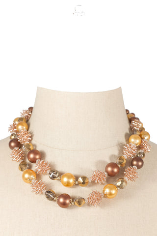 60's__Vendome__Chunky Ball Necklace