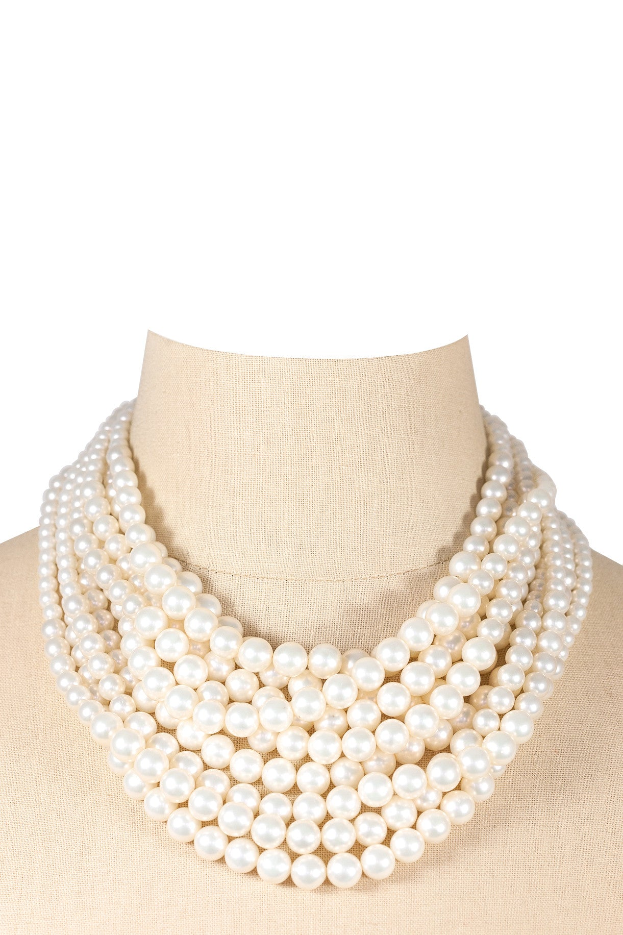 50's__Vintage__Statement Pearl Necklace