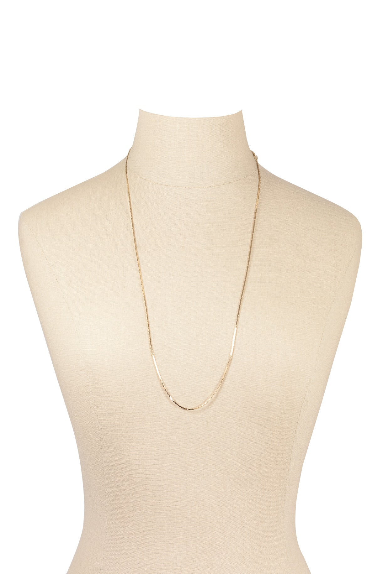 80's__Trifari__Dainty Herringbone Necklace