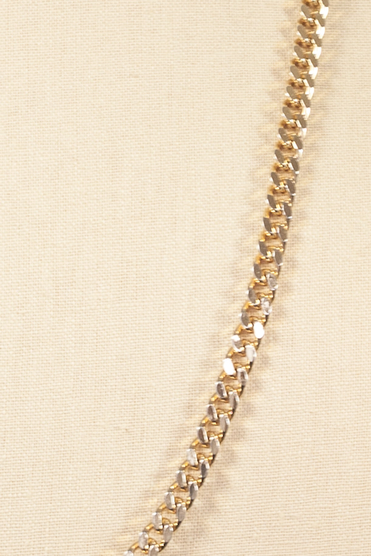 70's__Monet__Curbed Chain Necklace