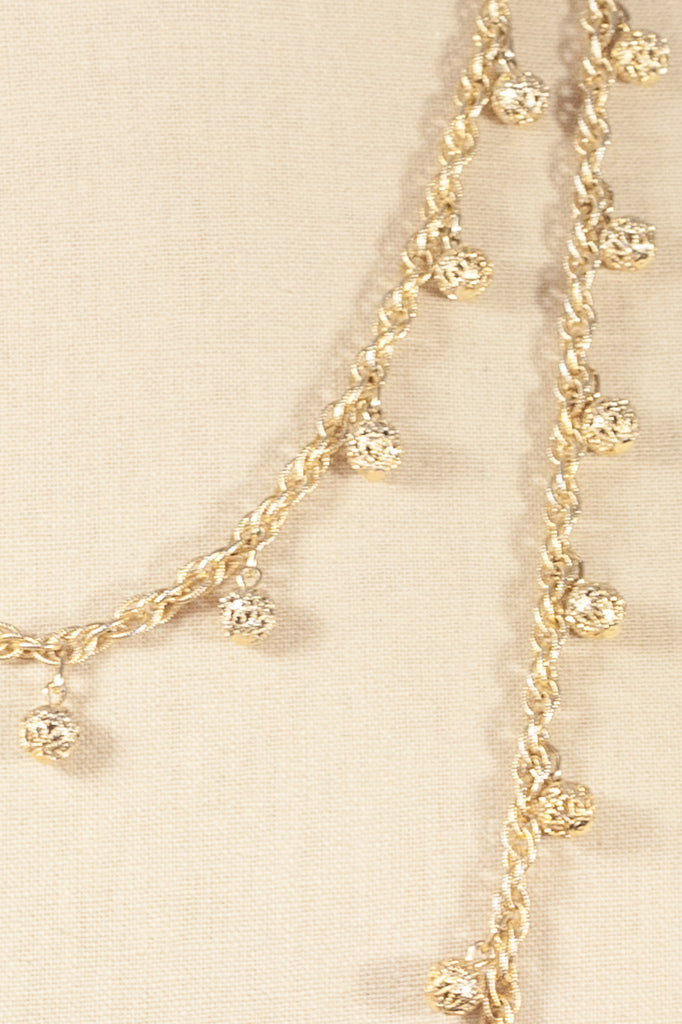 50's__Vintage__Long Ball Charm Necklace
