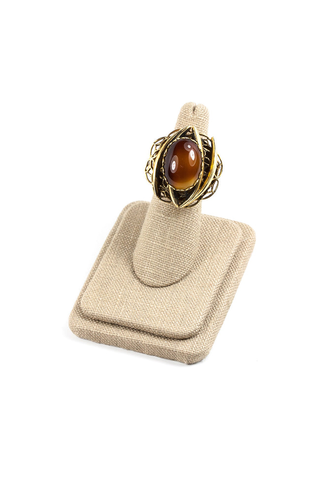 60's__Vintage__Tiger's Eye Ring