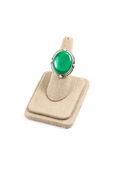 60's__Vintage__Malachite Sterling Ring