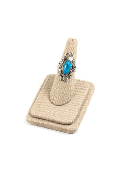 60's__Vintage__Adjustable Turquoise Ring