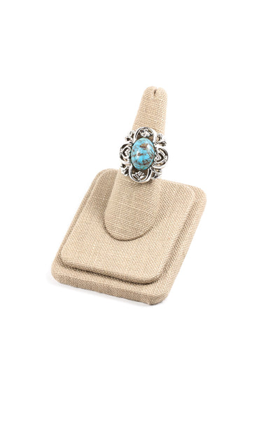 60's__Sarah Coventry__Adjustable Turquoise Ring