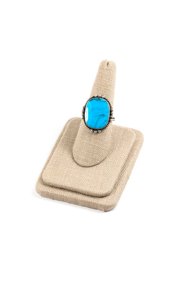 70's__Vintage__Adjustable Sterling Turquoise Ring
