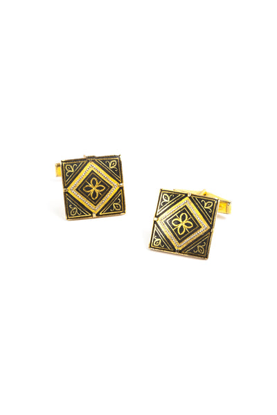 50's__Vintage__Damascene Cuff Links