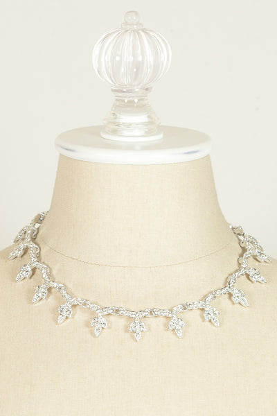 60's__Sarah Coventry__Silver Rhinestone Necklace