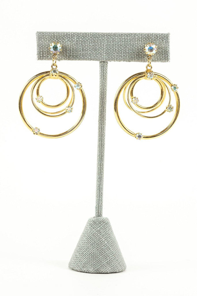 80's__Vintage__Hoop Drop Earrings
