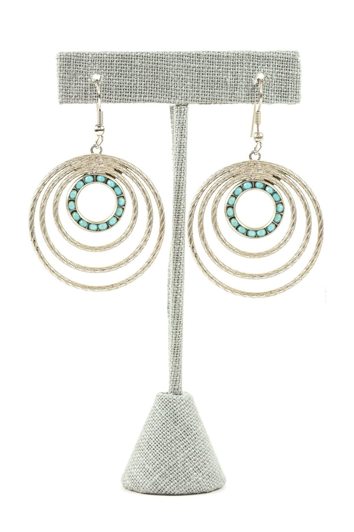 50's__Park Lane__Turquoise Drop Earrings