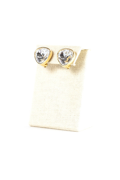 80's__Swarovski__Bold Rhinestone Clip On Earrings