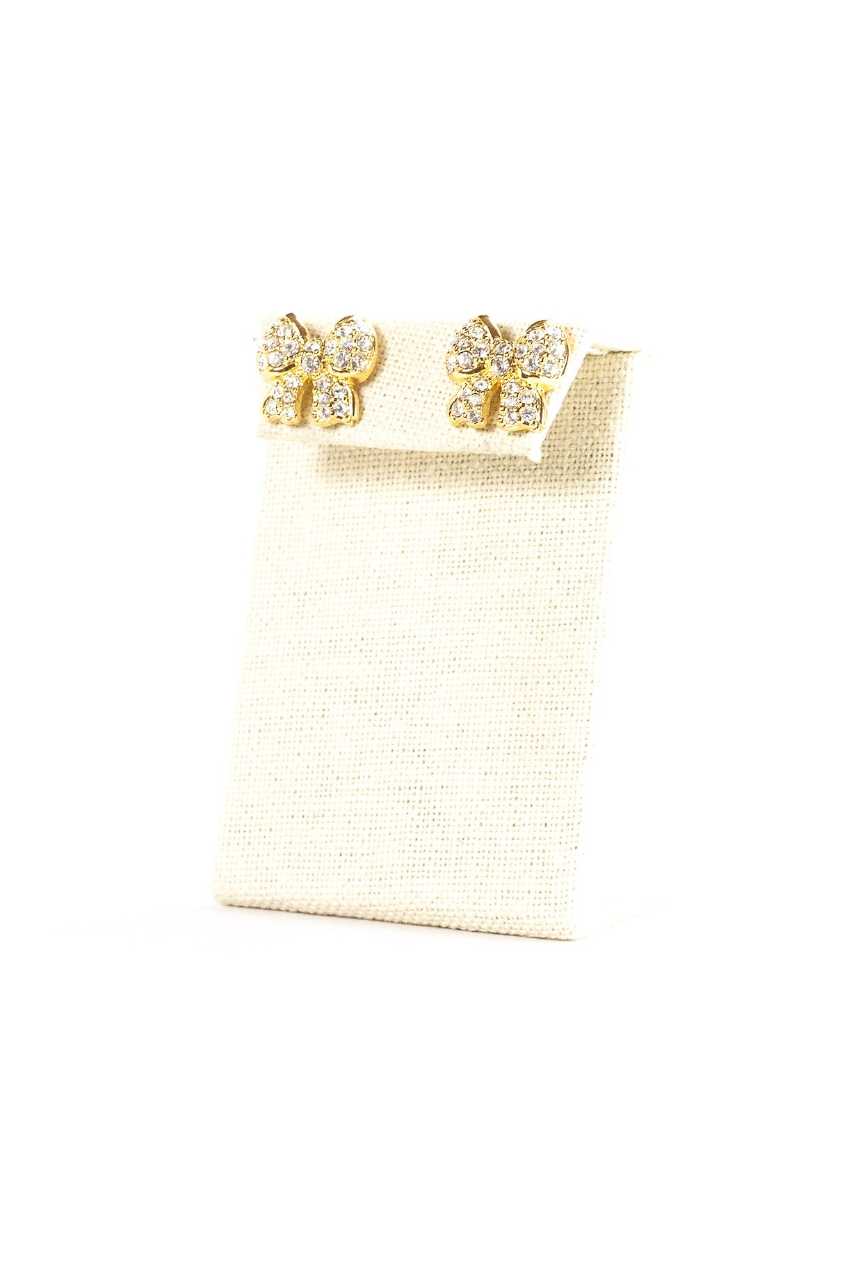60's__Swarovski__Crystal Bow Earrings