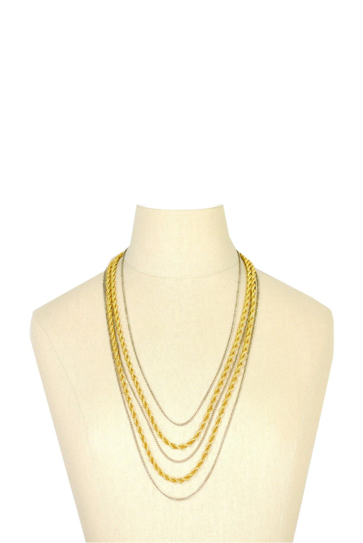 50's__Goldette__Multi-Chain Necklace