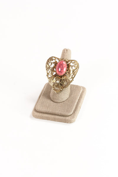 60's__Vintage__Coral Statement Ring