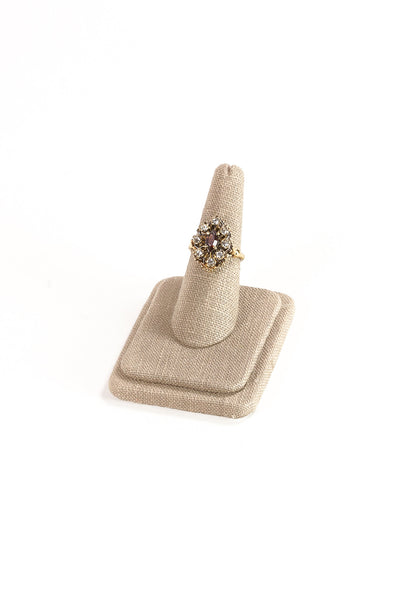 60's__Vintage__Neutral Rhinestone Cocktail Ring