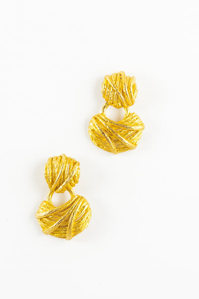 80's__Vintage__Etched Line Earrings