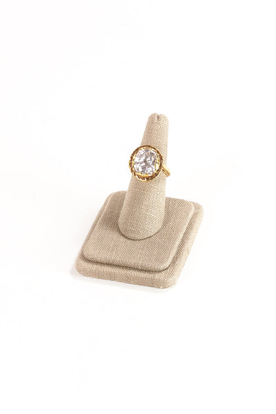 Vintage Classic Rhinestone Cocktail Ring
