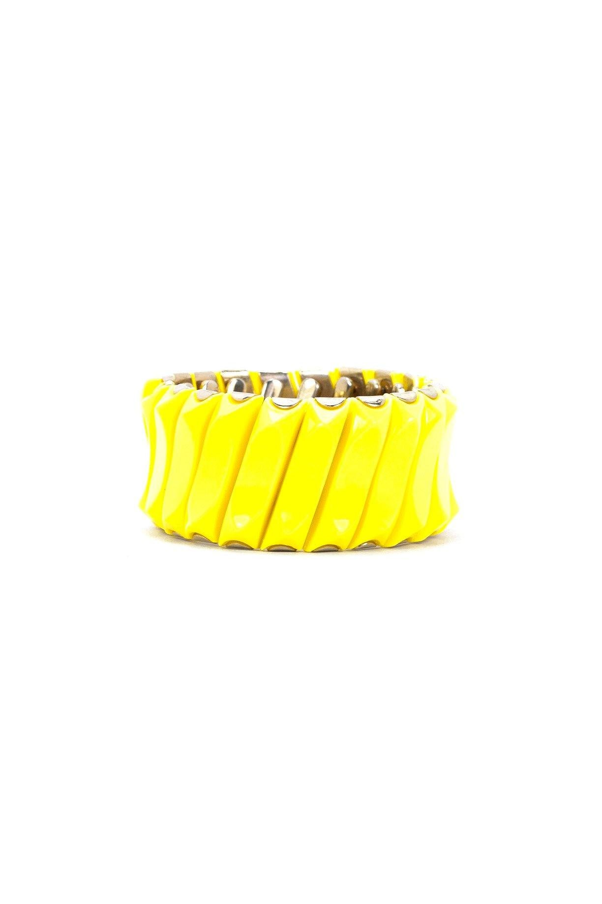 50's__Vintage__Yellow Expansion Bracelet