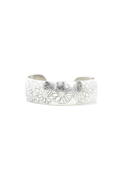 50's__Kirk Stieff__Etched Floral Cuff Bracelet