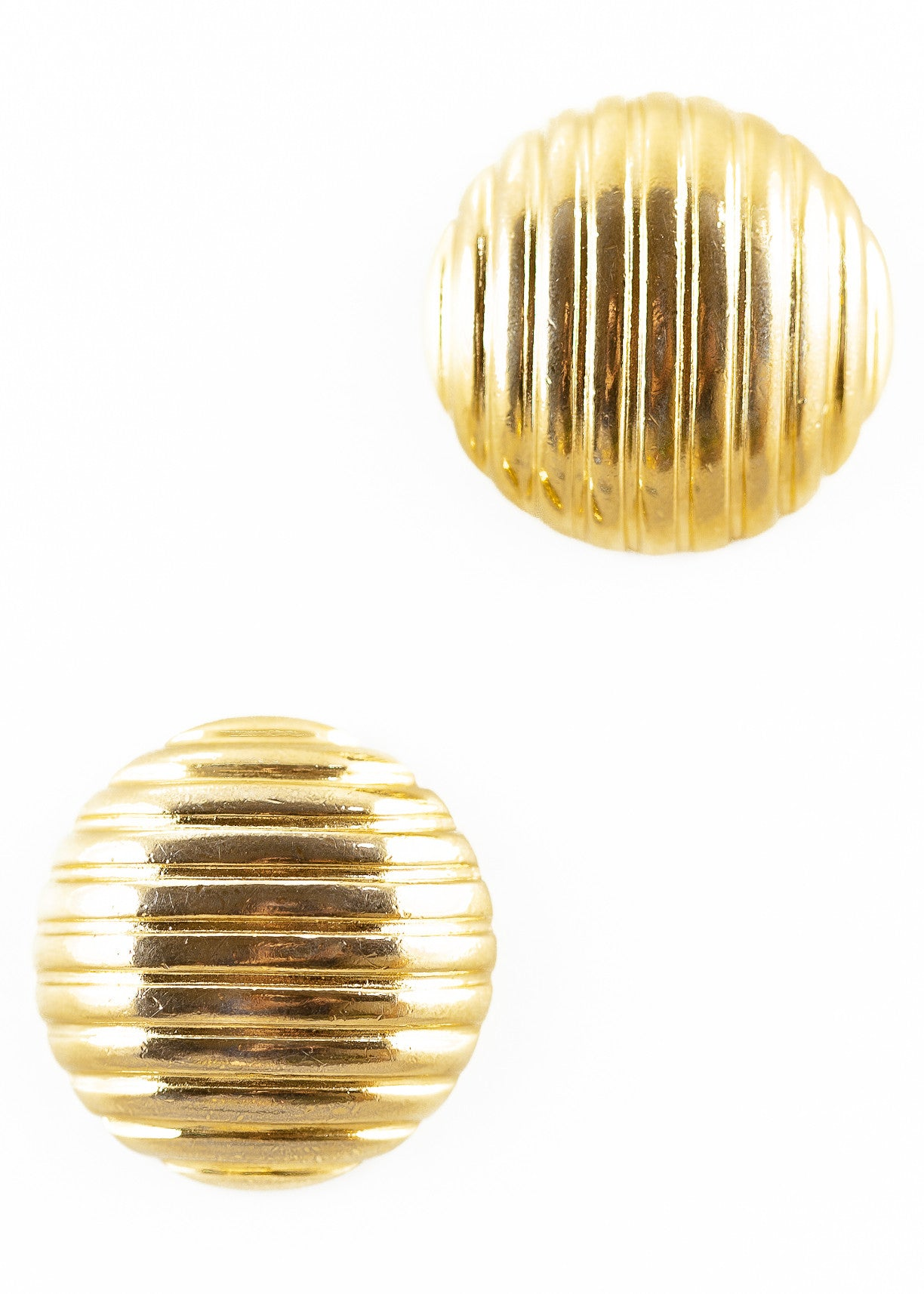 80's__Monet__Bold Striped Circle Earrings