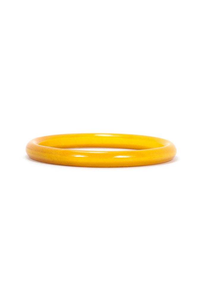 60's__Bakelite__Yellow Bangle Bracelet