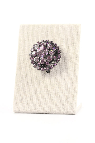 50's__Vintage__Raised Amethyst Brooch