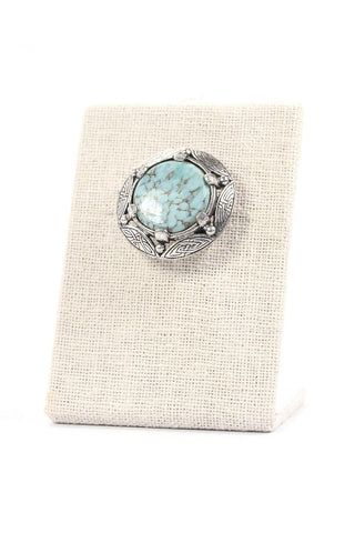 50's__Miracle__Turquoise Brooch